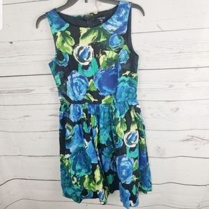 Maurices Multi Color Floral Fit & Flare Dr…